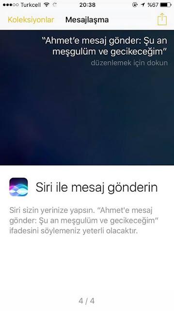iPhone 7 Siri ile mesaj gönderme özelliğini kullanmak