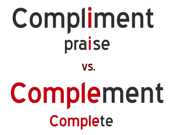 Compliment vs. Complement. Learn with mind tricks