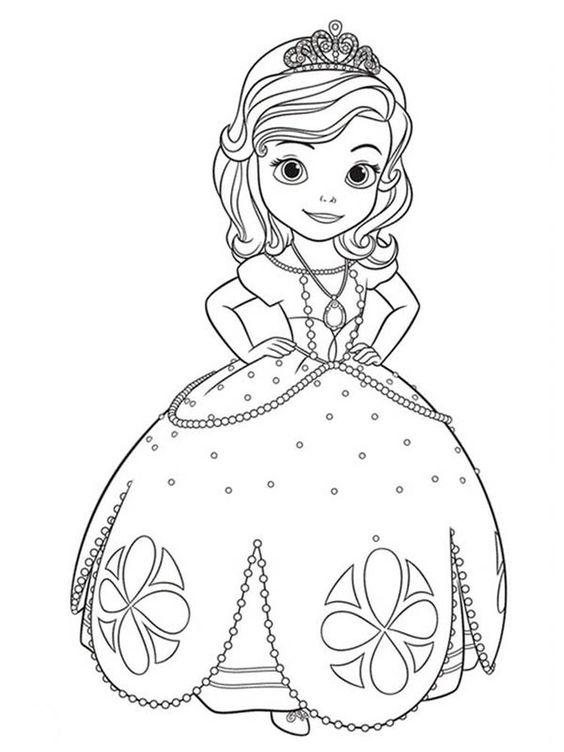 Tranh cho bé tô màu công chúa Sofia 4