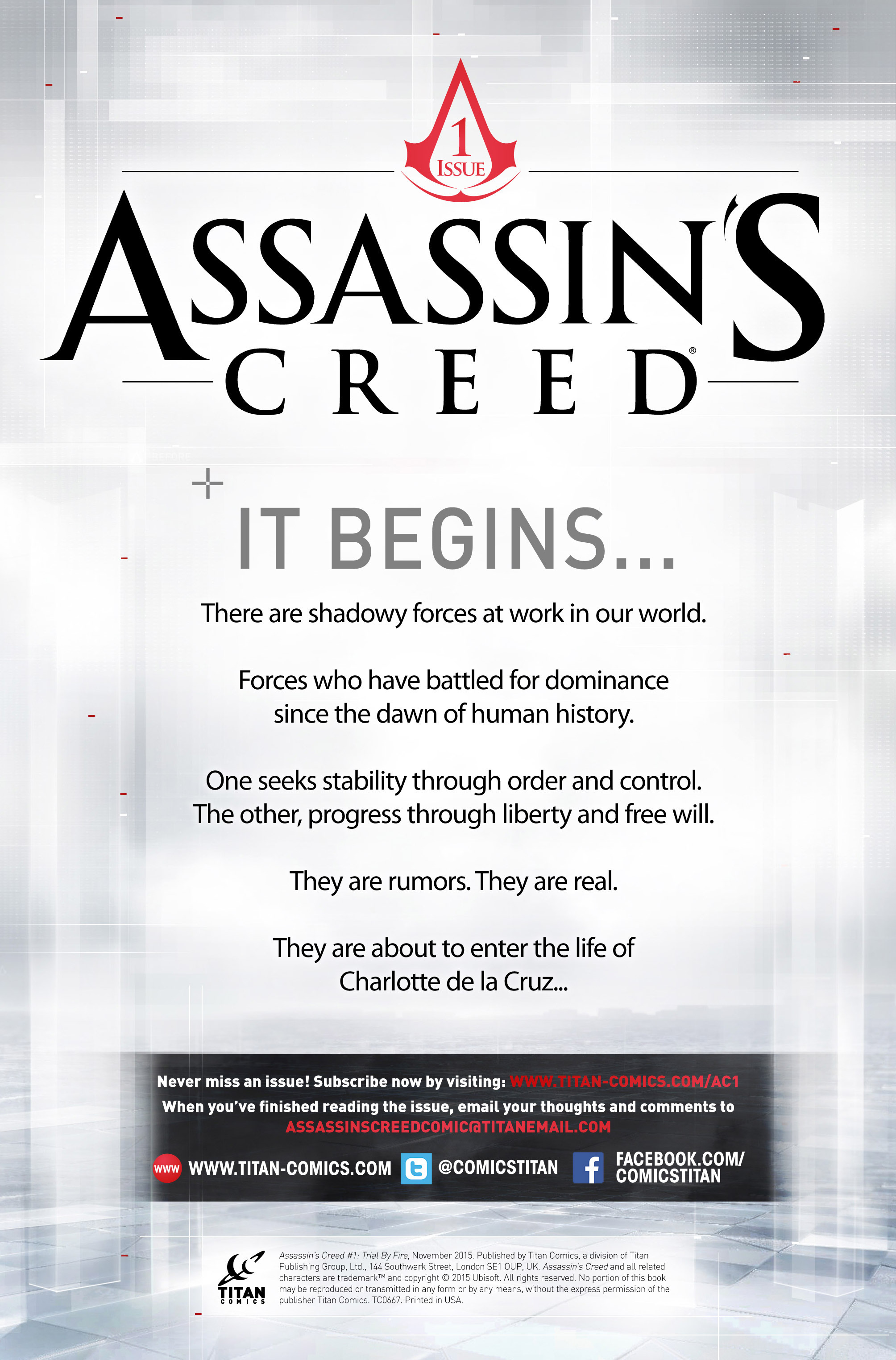 Read online Assassin's Creed (2015) comic -  Issue #1 - 2