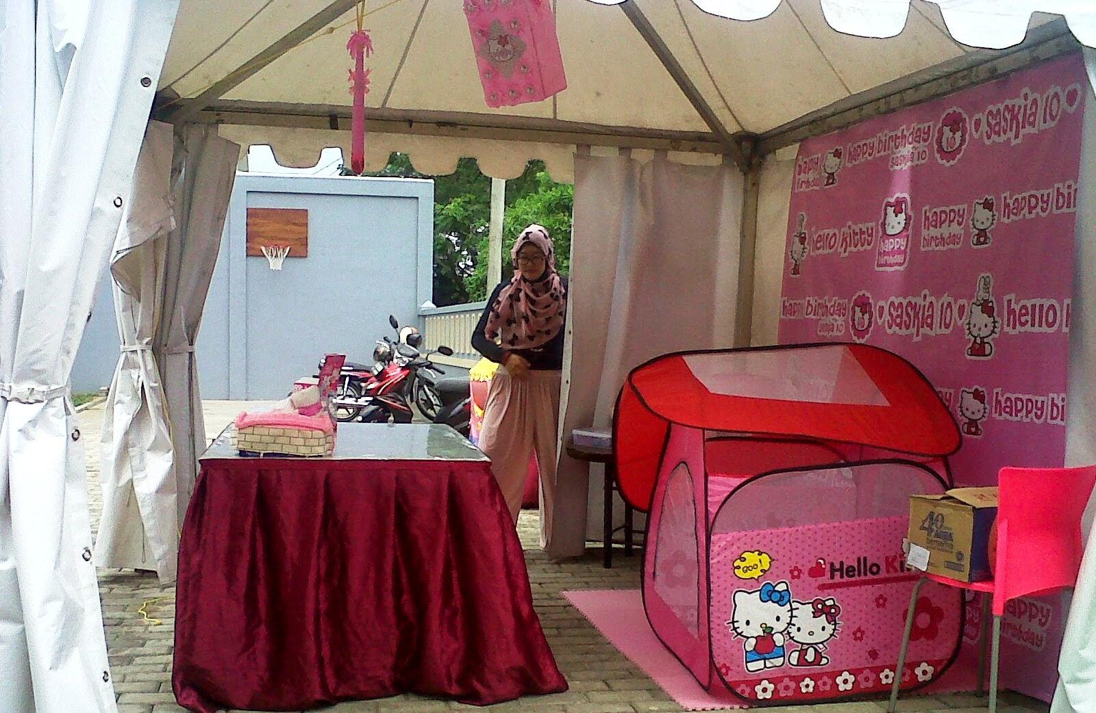 dekorasi ulang tahun serba pink