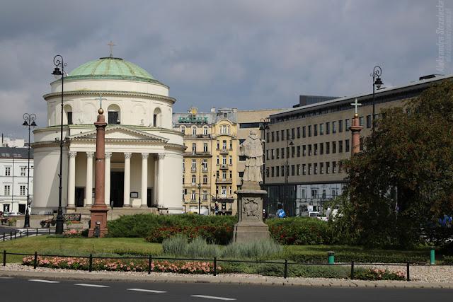 Plac Trzech Krzyży - Kościół św. Aleksandra w Warszawie
