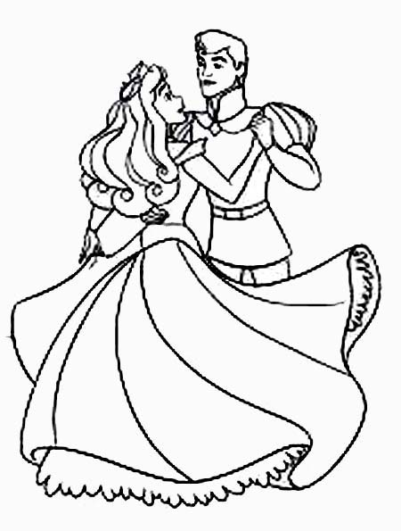 Disney Princess And Prince Dancing Coloring Books