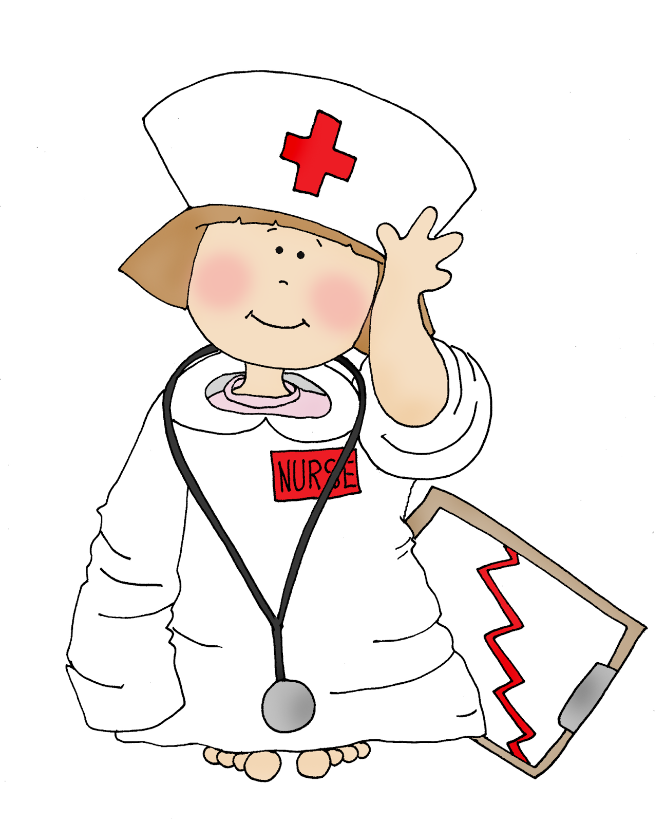 Free Dearie Dolls Digi Stamps: Little Nurse Girl
