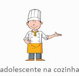 adolescente na cozinha