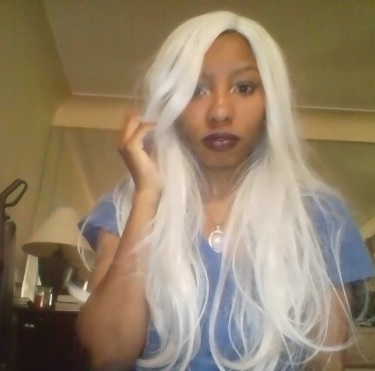 WigIsFashion Wig Review - White / Grey Wig for Storm Cosplay Jasmine MinYe long straight silver grey fashion synthetic hair wig WIG097