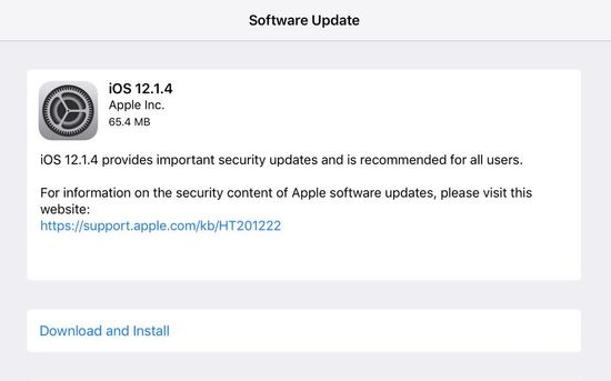 Apple iOS 12.1.4 Features Changelog
