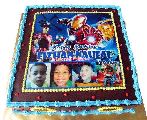 Birthday Cake Edible Image Iron Man