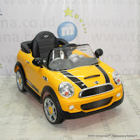 Mobil Mainan Aki Junior W446EQ Mini Cooper S Lisensi Yellow