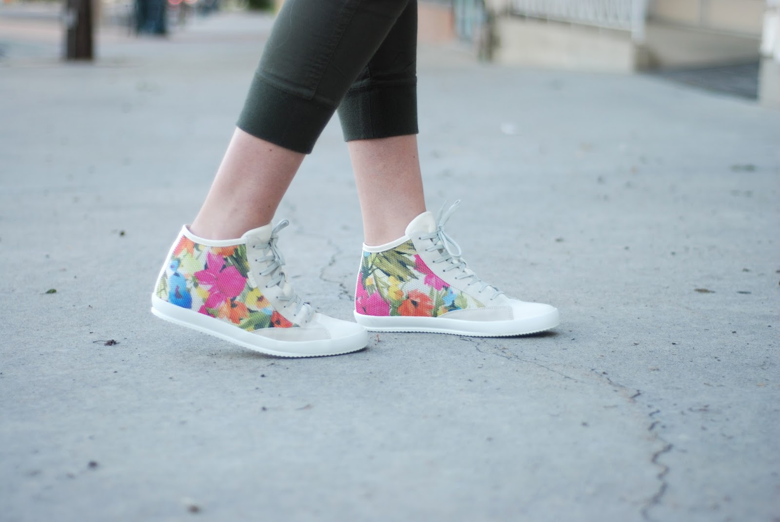 FRAU Shoes, Floral High Tops, Utah Fashion Blogger
