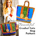 Bold and beautiful crochet tote