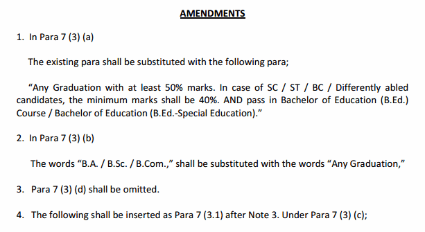 A.P TET Exam 2018 latest amendments/modifications in G.O No 4