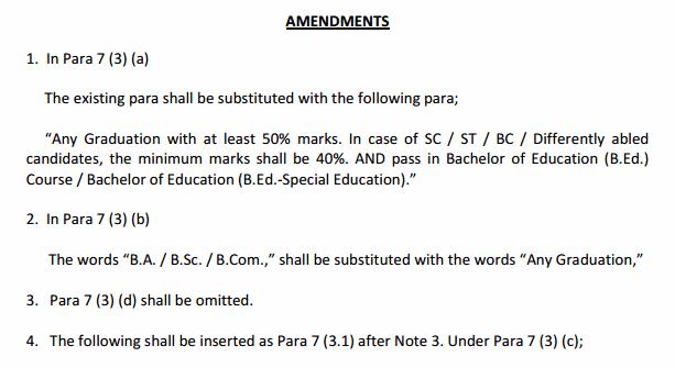 A.P TET Exam 2018 latest amendments/modifications in G.O No 4
