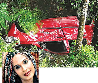 Ginger in hospital ... vehicle falls into precipice while on the way for musical show!
