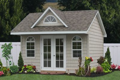 Custom Built Shed For A Home Office