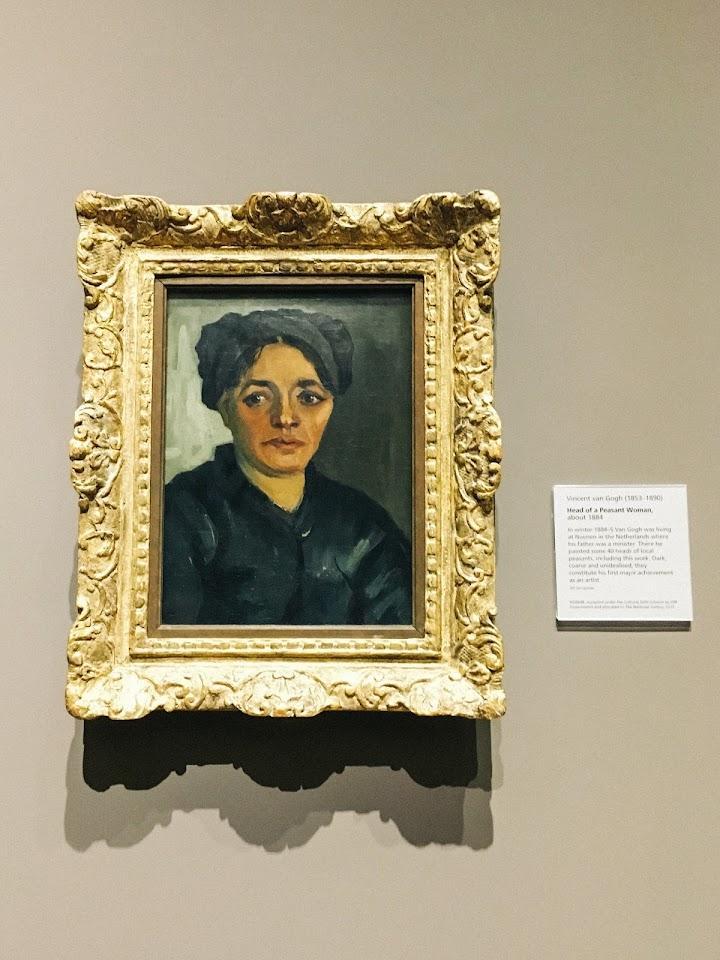 暗色の帽子をかぶった農婦の顔(Head of a Peasant Woman)1884年頃
