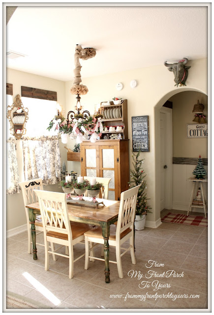 Breakfast Nook-French Country- French Farmhouse- Christmas-Kitchen- From My Front Porch To Yours