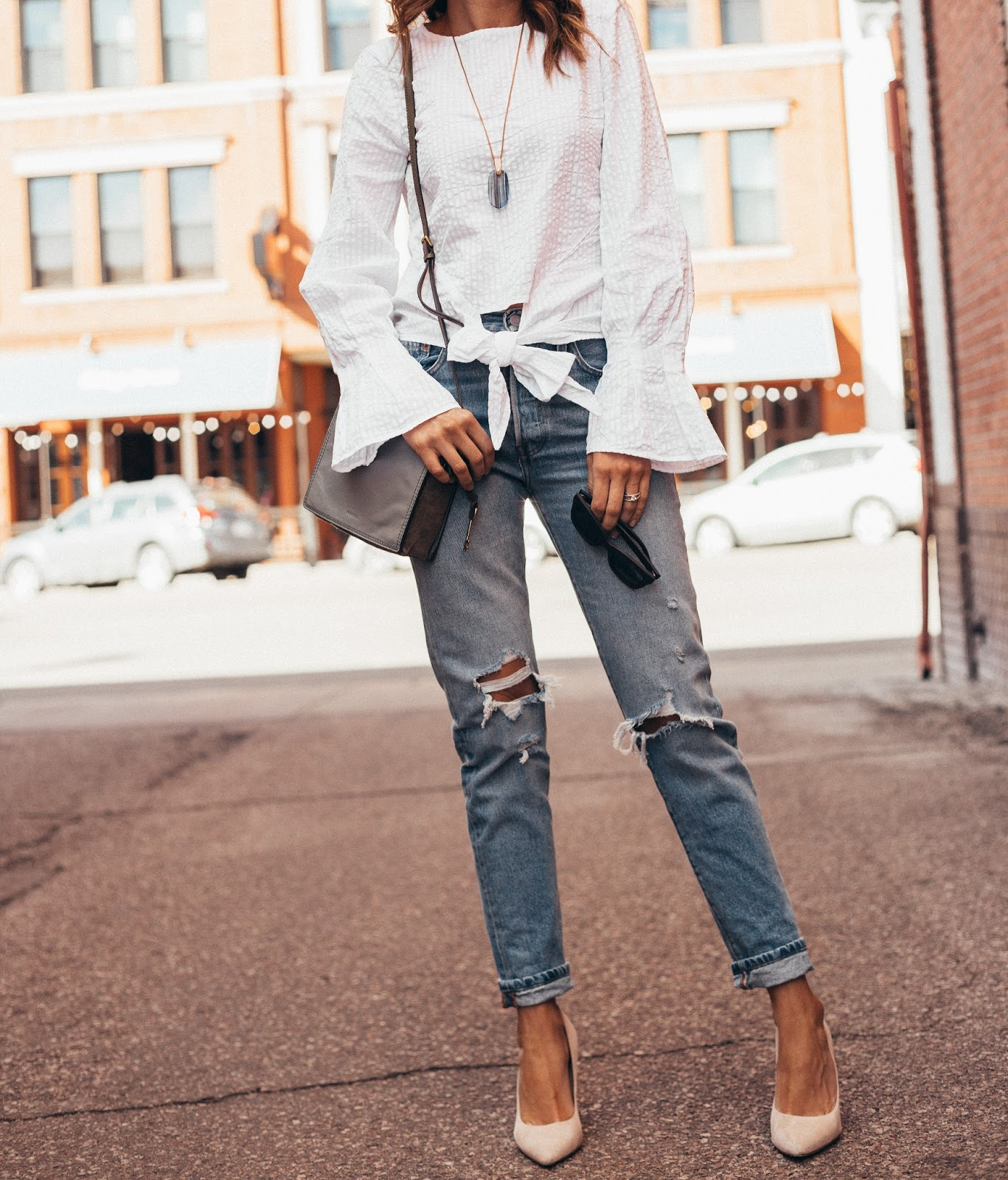 5 Cute White Tops For Spring by popular Colorado style blogger Eat Pray Wear Love