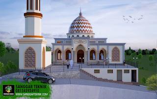 DESAIN MASJID 19x15.5 MASJID SU'ADAA MUHAMMADIYAH TANJUNG SANI