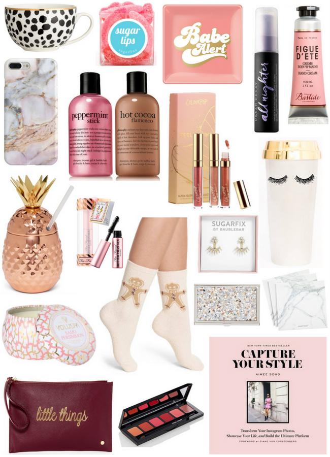 Christmas Gifts Under 20.The Classic Brunette Holiday Gift Guide Stocking Stuffers