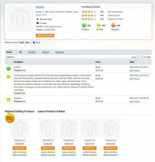 Marketplace review system in Medma