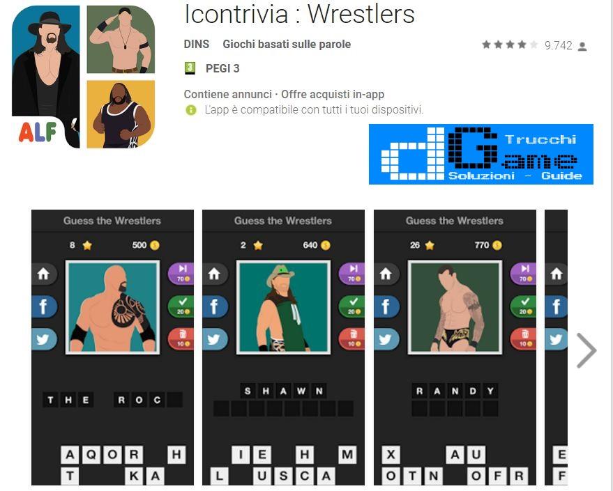 Soluzioni Icontrivia : Wrestlers | Screenshot Livelli con Risposte