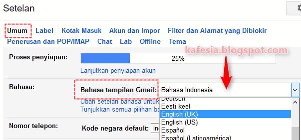 gmail.com bahasa indonesia