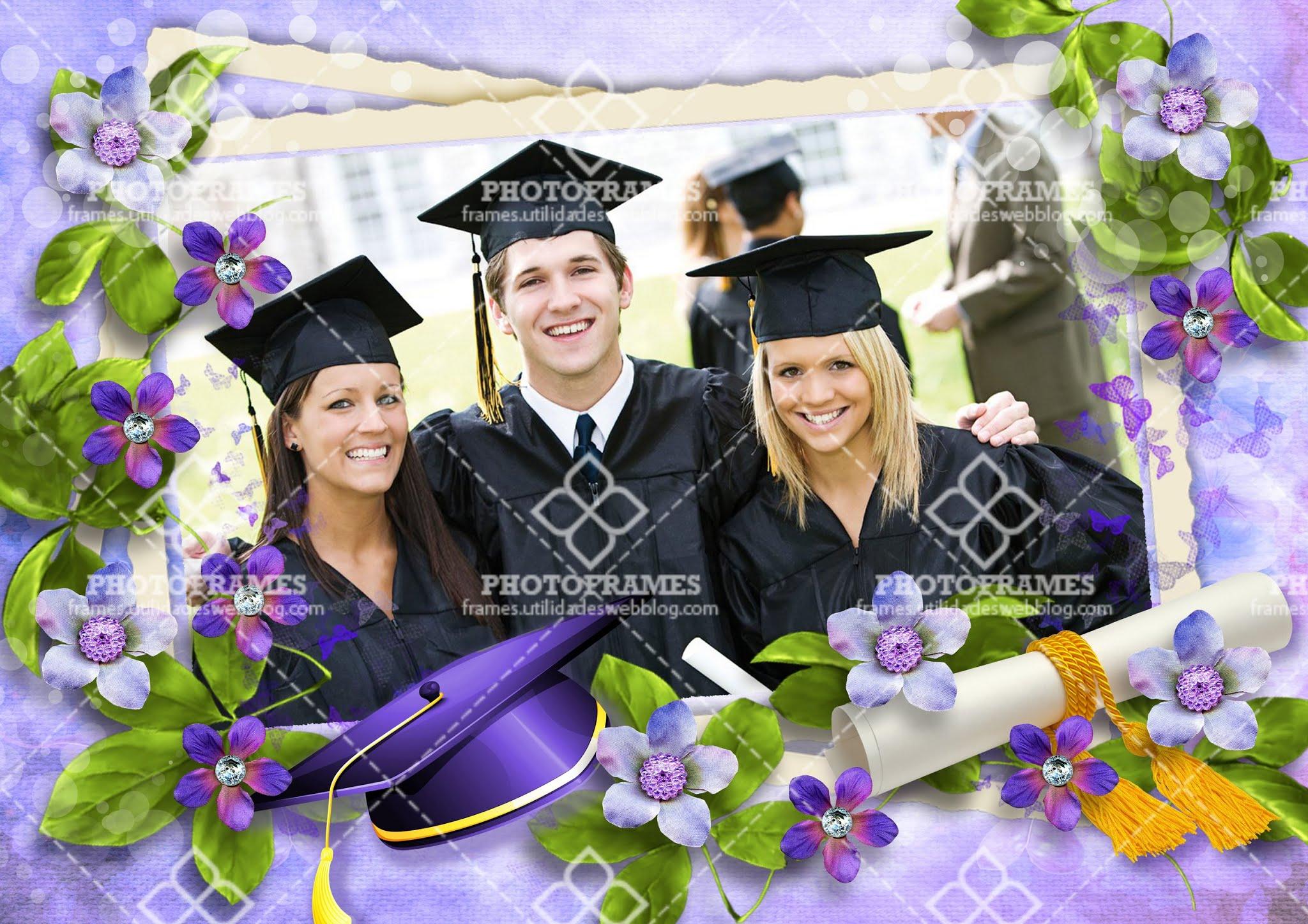 Marco para colocar fotos de graduación  en formato PNG