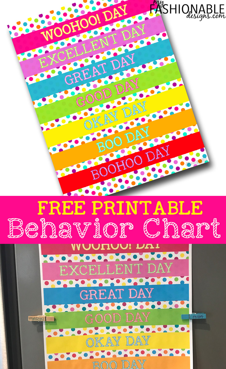 image about Free Printable Behavior Charts known as My Present day Patterns: Totally free Printable Patterns Chart