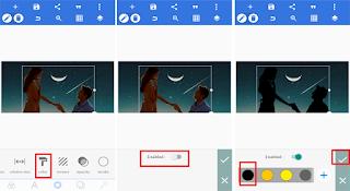 foto siluet PixelLab Android