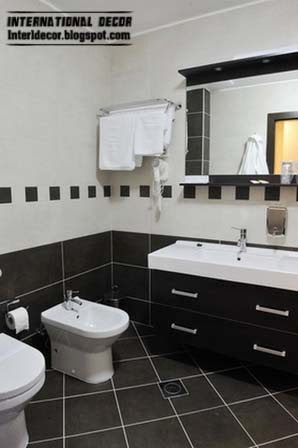 black and white tiles for bathroom and toilet, black tiles