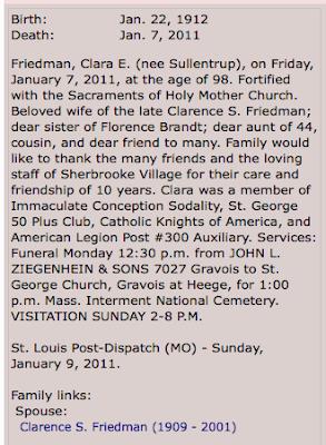 clara friedman obituary