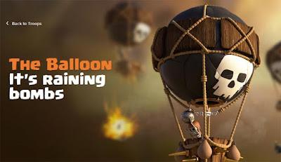 Data lengkap strategi dan biaya upgrade Balloon di COC