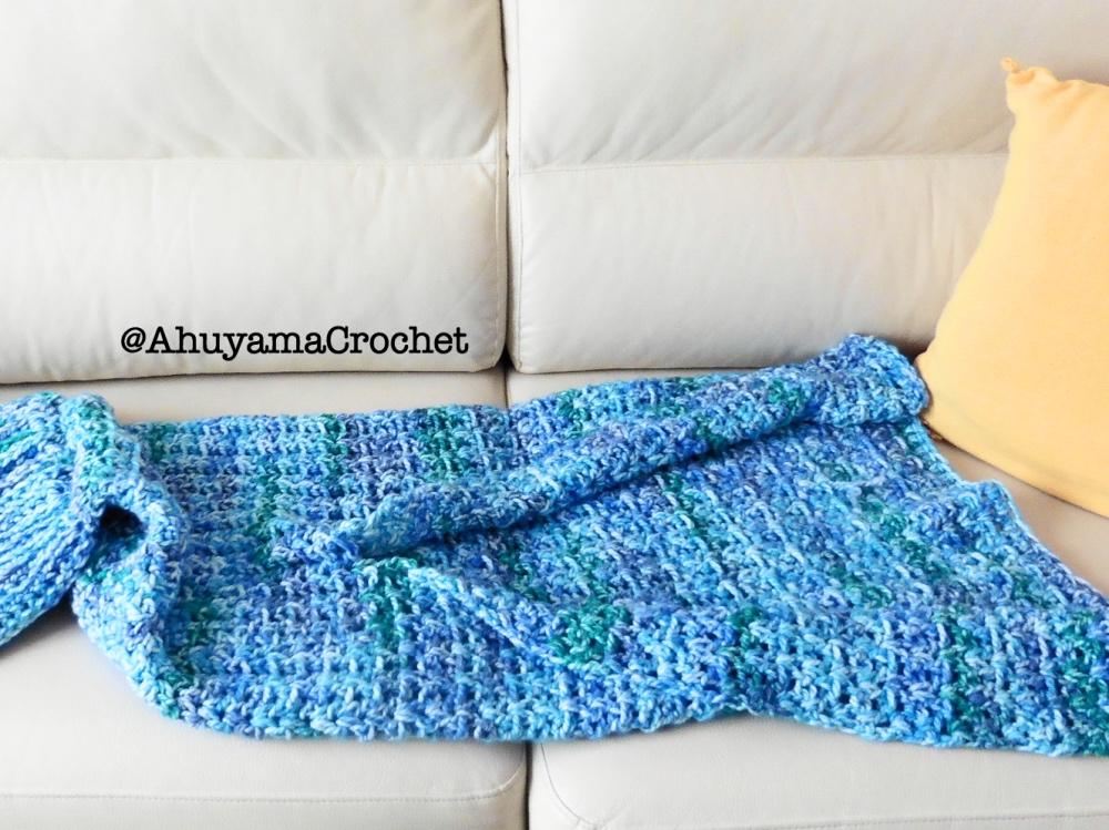 MANTA DE COLA DE SIRENA A CROCHET - Ahuyama Crochet