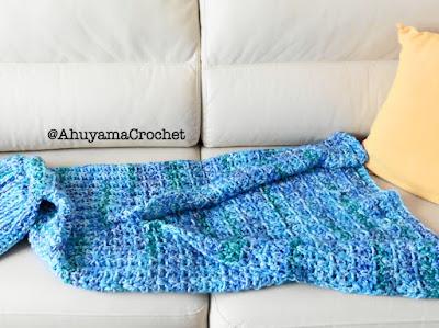 imagen manta cola de sirena ahuyama crochet