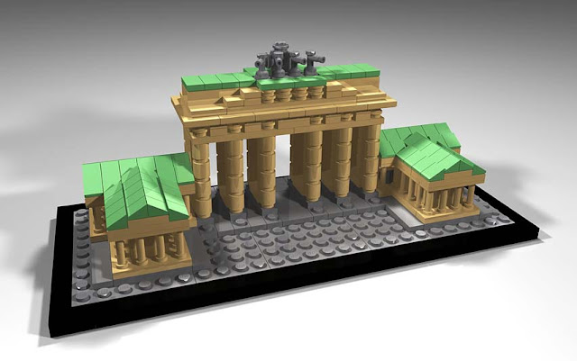 Green Pear Diaries - Lego architecture Puerta Brandemburgo