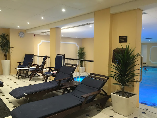 the pool relaxation area at the grand hotel eastbourne