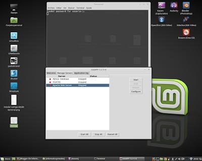 Interfaz gráfica de Xampp en linux