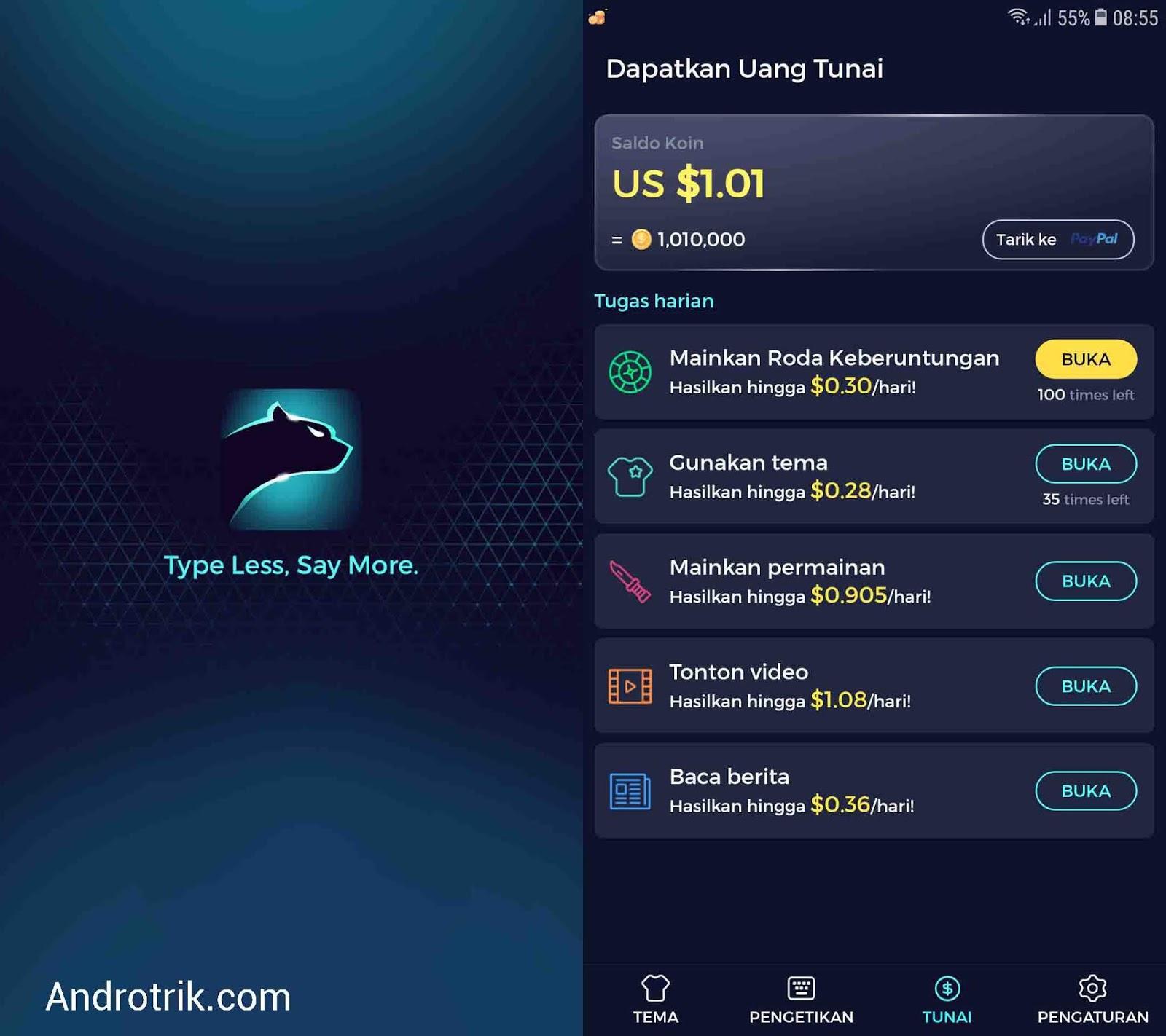 aplikasi keyboard penghasil uang dolar