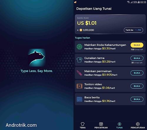 Cheetah Keyboard - Aplikasi Penghasil Uang Dollar/Saldo Paypal Gratis