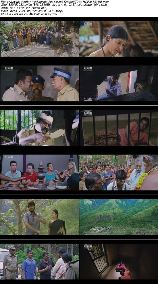 Jungle 2018 Hindi Dubbed 720p HDRip 850MB