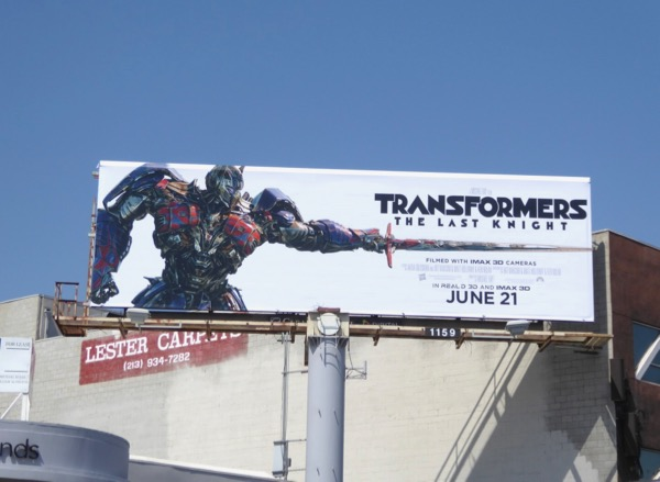 Transformers Last Knight Optimus Prime billboard