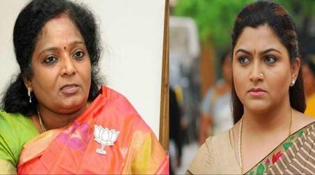 Twitter War between Kushboo and Tamillisai