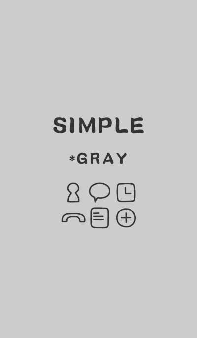 SIMPLE*gray*