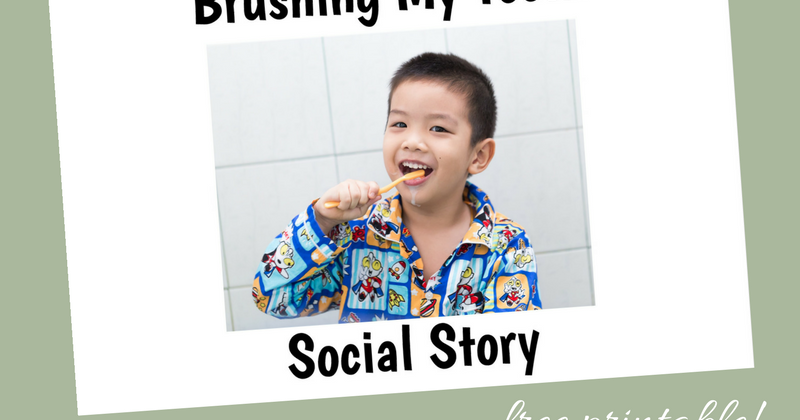 photograph relating to Free Printable Social Story Template called No cost Printable Social Tale More than Brushing My Enamel And