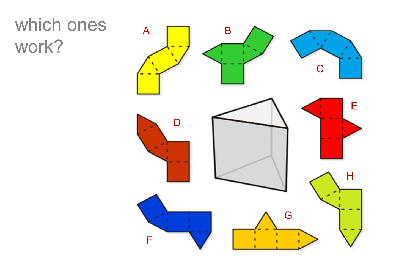 net diagrams of 3d shapes kc daylighter wiring diagram nets worksheet gcse levelled
