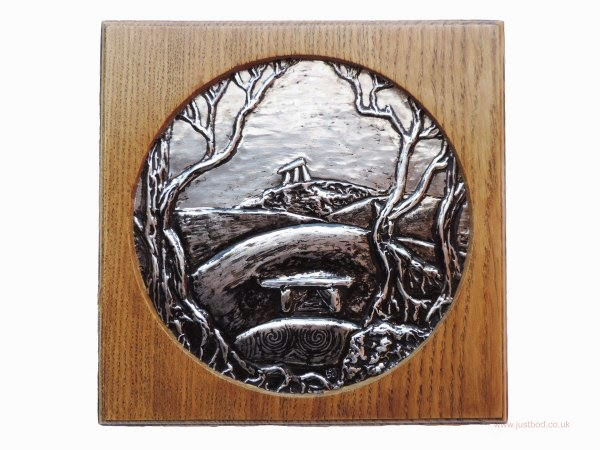Ancestors wood and metal hand sculpted wall plaque
