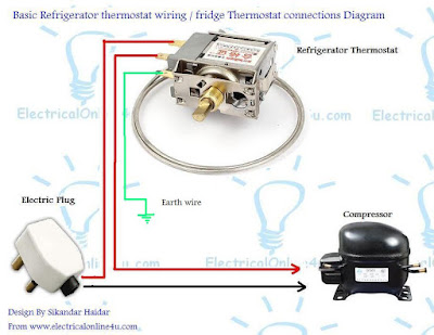 fridge thermostat wiring diagram