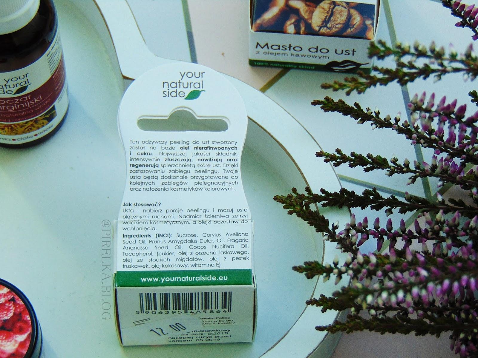 Peeling do ust z olejem truskawkowym, Your Natural Side