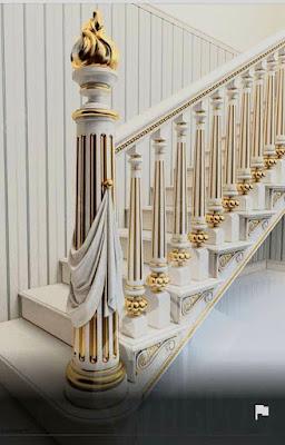 railing tangga mewah untuk rumah klasik